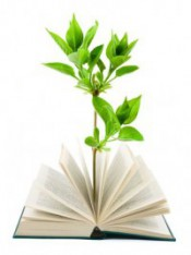 Book and plant
