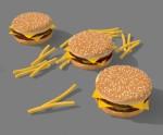 cheseburger and potato