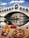 Italian pizza in Venice, Italy
