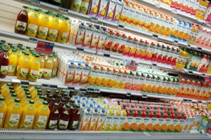 orange juice on grocery shelf food giant