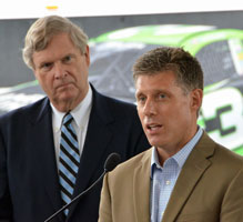 Ag Secretary Tom Vilsack with Steve Walk of Protec Fuel (picture by AgWired)