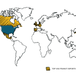 usa peanut exports map