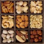 assorted nuts for a background