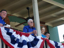 Tyron Spearman and President Jimmy Carter (picture from Plains Peanut Festival website)