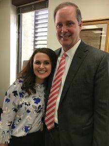 """Josie Tomkow with her """"Uncle"""" Wilton Simpson. Senator Wilton Simpson (R- Spring Hill), majority leader Florida Senate"""