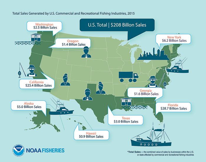 US On Path To Sustainable Commercial Fishing Waters Southeast - Us waters map