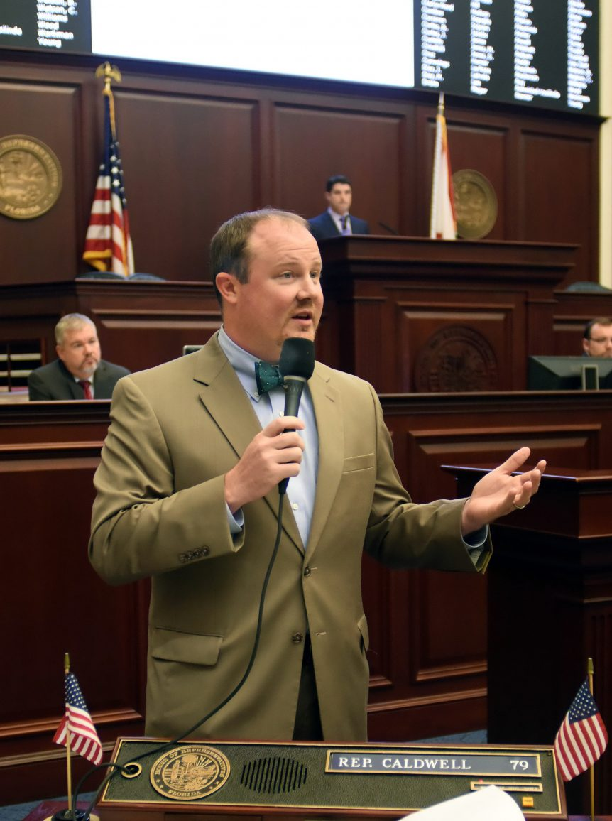 Rep. Matt Caldwell, R-Lehigh Acres, debates on the House floor Jan. 14, 2016