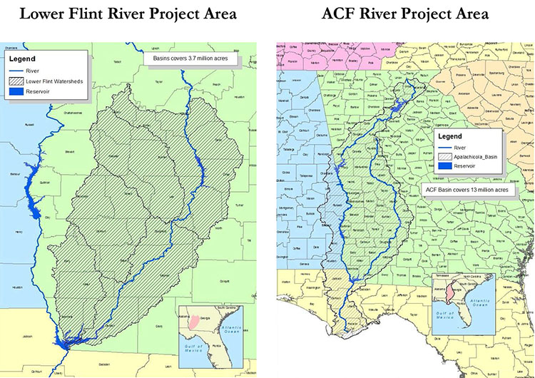 Florida And Georgia Map.Deadlines Set In Florida Georgia Water War Southeast Agnet