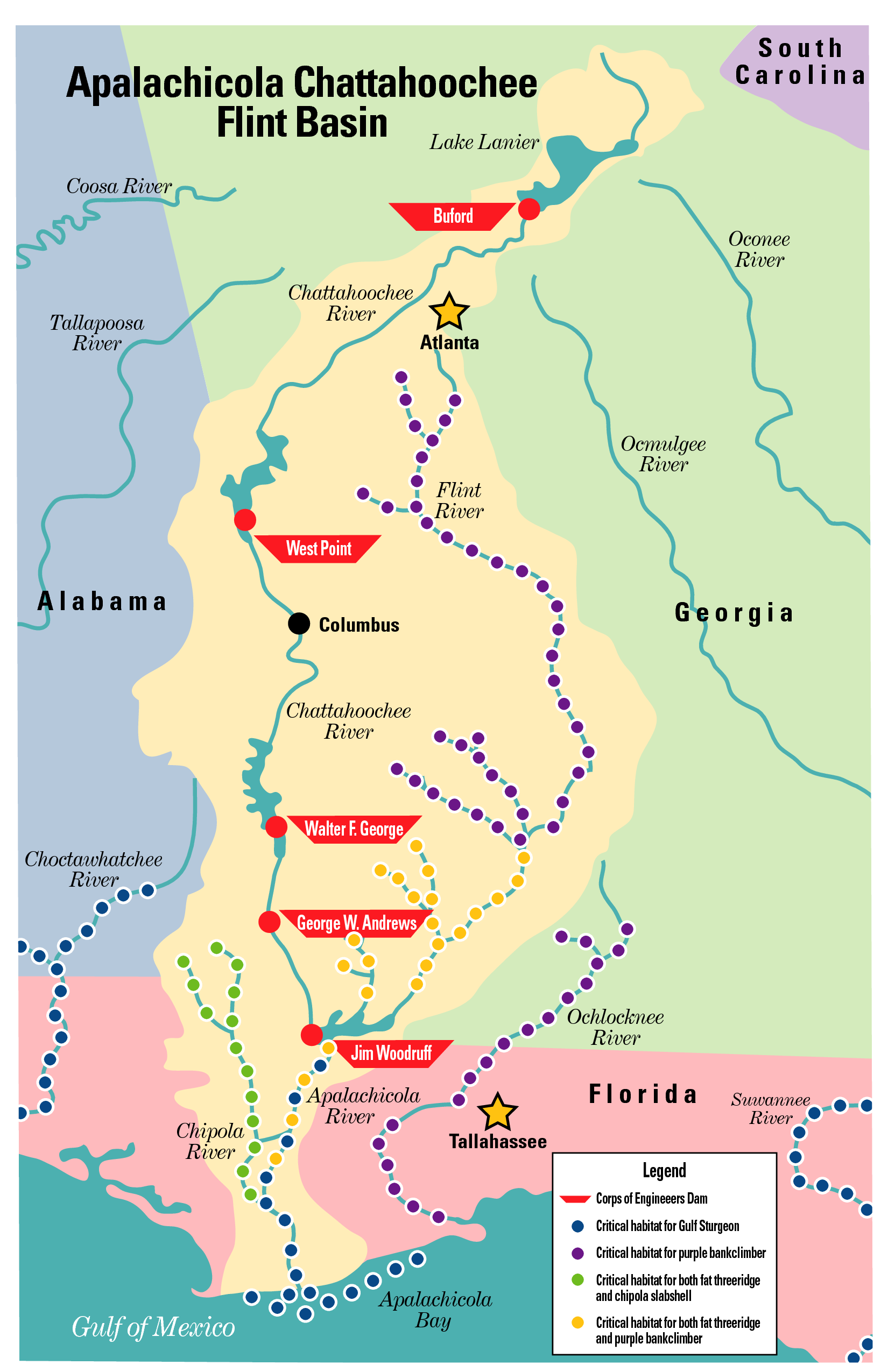 the legal fight between florida and georgia over water flow into theapalachicola river will move before the full us supreme court. supreme court wades into water wars  southeast agnet